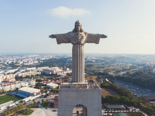 Portugal Lissabon Cristo Rei Statue