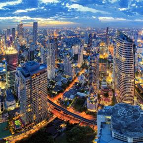 Thailand Bangkok von oben Stadt