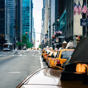 USA New York Manhattan Taxireihe