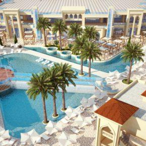 Sun Connect Aqua Blu Resort Poollandschaft von oben