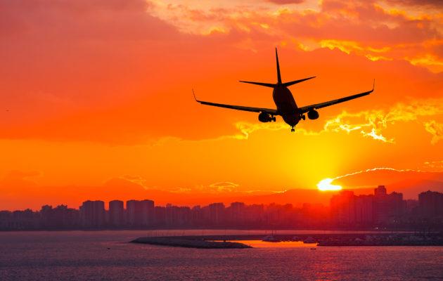 Flugzeug Sunset