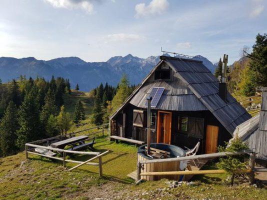 Hirtenhütte Slowenien aussen