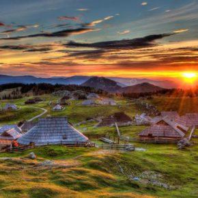 Hirtenhütte Slowenien Dorf