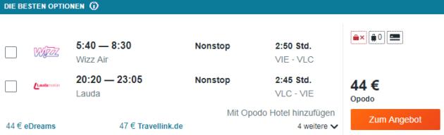 Flug Wien Valencia