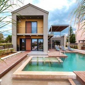 Luxus pur: 8 Tage in stylischer Villa in Griechenland nur 100m vom Strand mit Pool ab 207€ p.P.