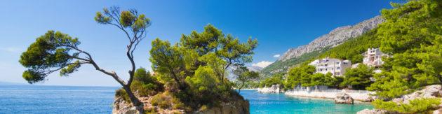 Kroatien Dalmatien Makarska Riviera Brela Panorama