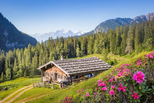 Österreich Salzburger Land Berghütte
