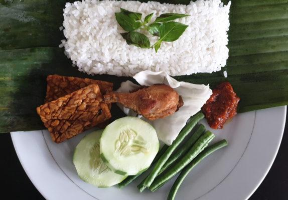 Indonesien Essen Lalapan Ayam
