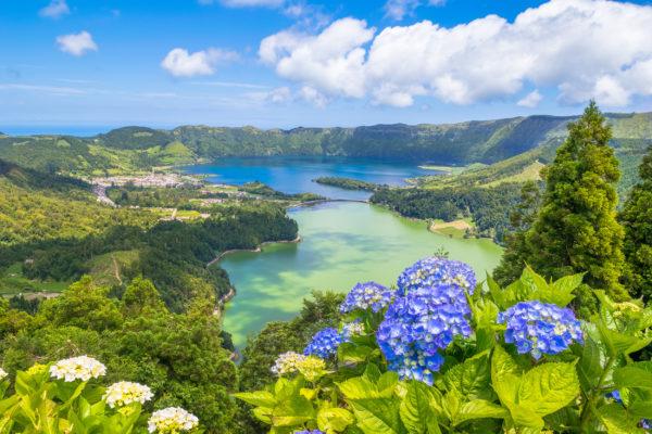 Portugal Azoren Seven Cities Fluss