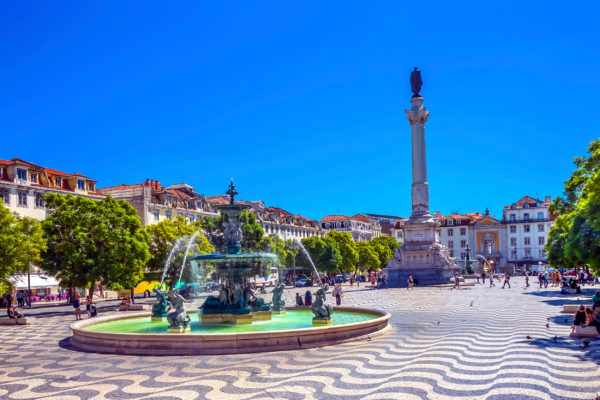 Portugal Lissabon Rossio Platz