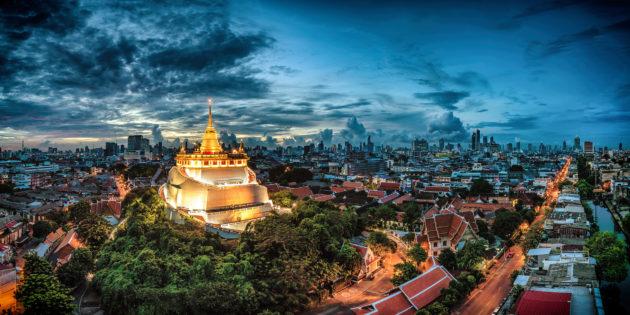 Thailand Bangkok Wat Saket
