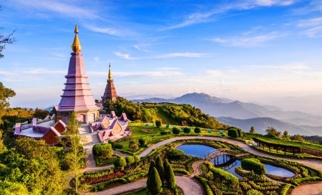 Thailand Chiang Mai two Pagoda