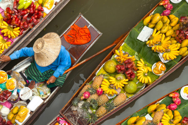Thailand Floating Market Obst