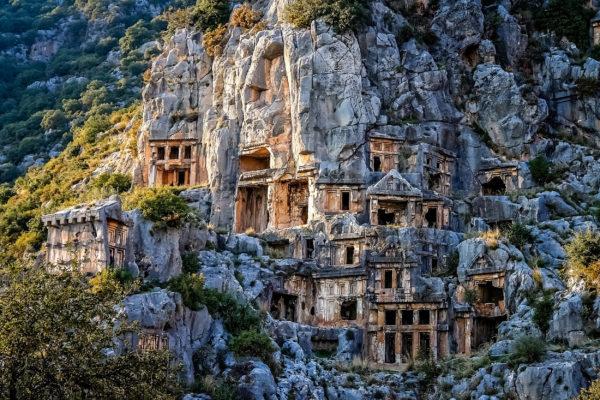 Türkei Myra Felsengräber