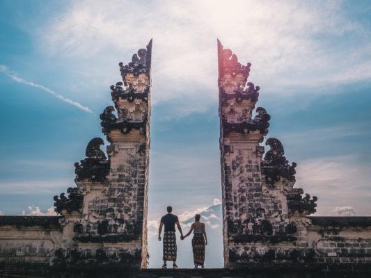 Bali Lempuyang Tempel Paar
