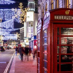 Weihnachtsshopping in London: 3 Tage Winter-Wochenende mit zentralem 3* Hotel & Flug nur 62€