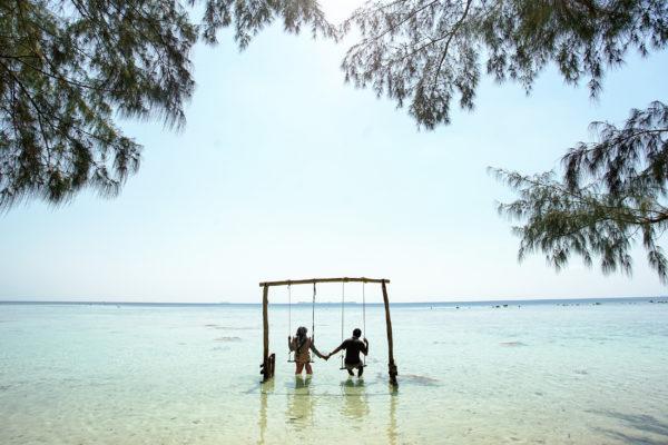Indonesien Karimunjawa Meer Schaukel