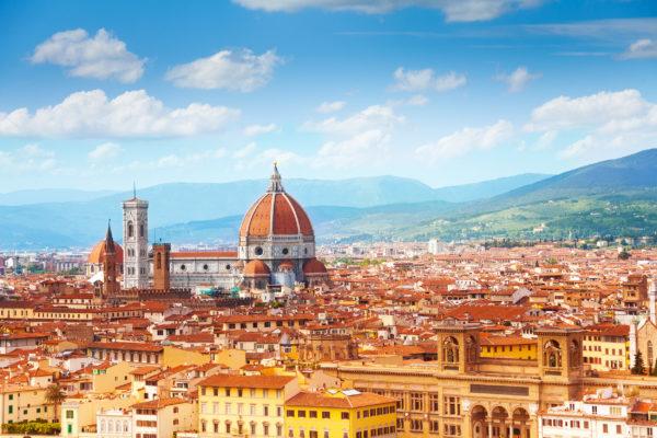 Italien Florenz von oben
