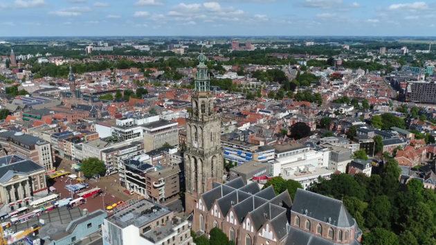 Niederlande Groningen Martinitoren Kirche oben