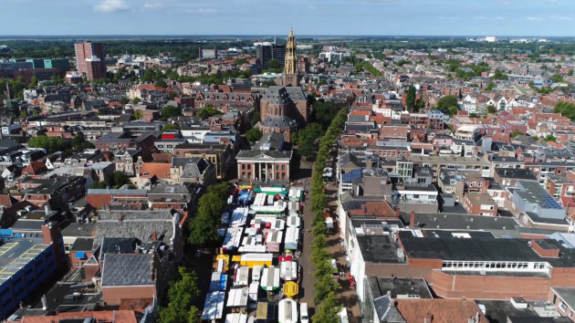 Niederlande Groningen Vismarkt oben