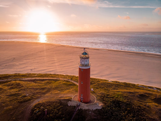 Niederlande Texel Strand Leuchtturm