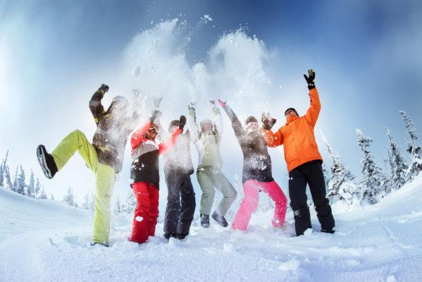 Ski Urlaub Schnee Freunde