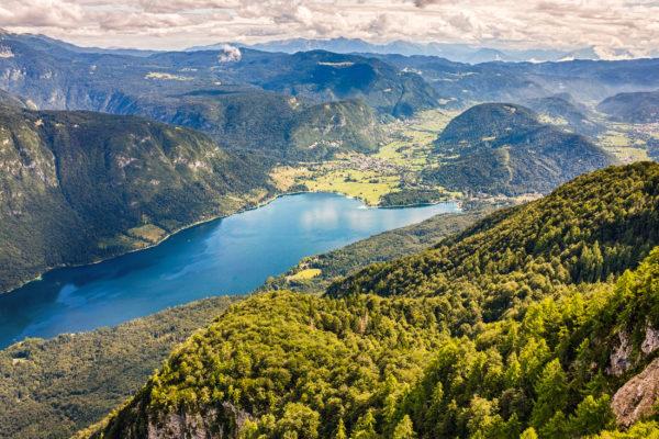Slowenien Bohinj Lake Berge Oben