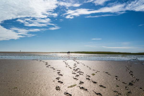 Sylt Fussabdrücke Sand