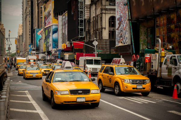 USA New York Straße Taxis