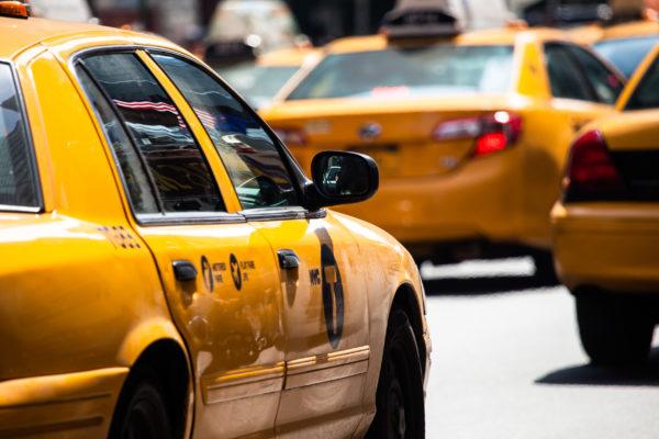 USA New York Taxi hinten