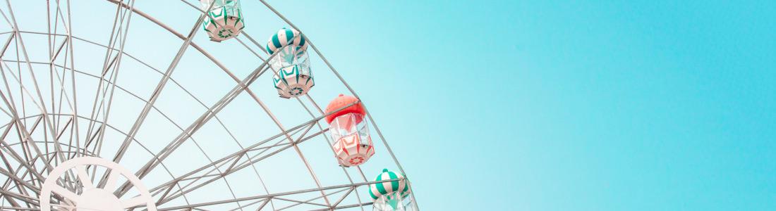 Freizeitpark Riesenrad Panorama Neu 1100