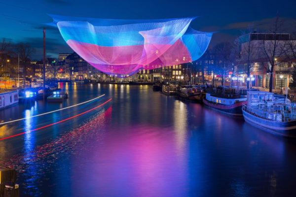 Niederlande Amsterdam Festival of Lights bunt