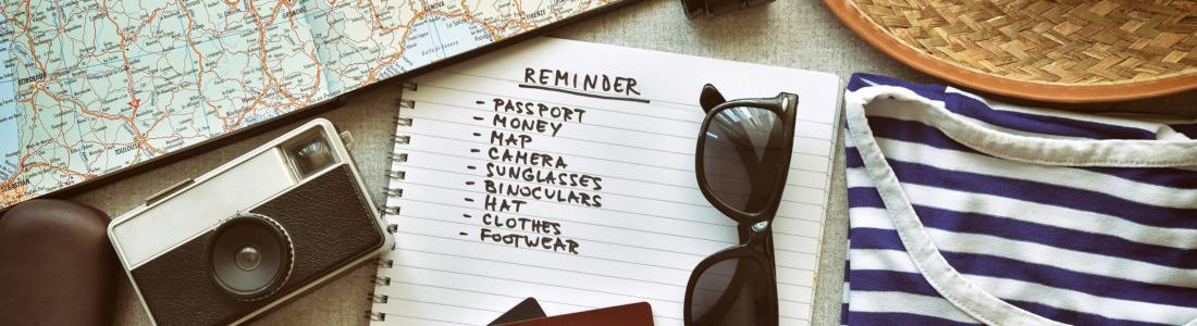 Reisen Checkliste Panorama Neu 1100