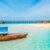 Sansibar Boote klares Wasser Panorama