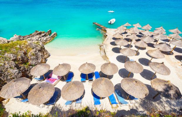 Albanien Ksamil Beach Overview