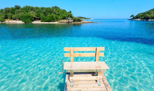 Albanien Ksamil Meer