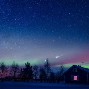 Polarlichter beobachten in Finnland: Flüge nach Lappland nur 7€