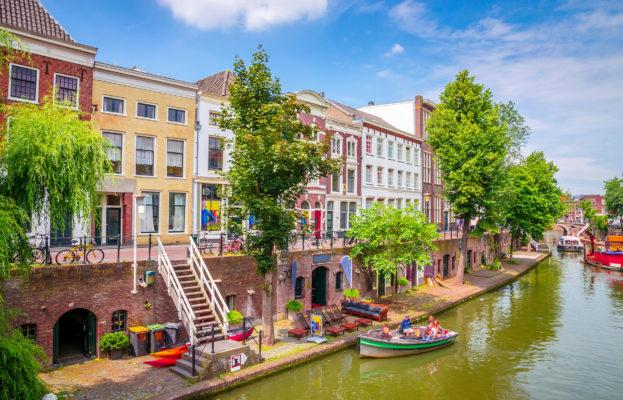 Niederlande Utrecht Kanal Boote