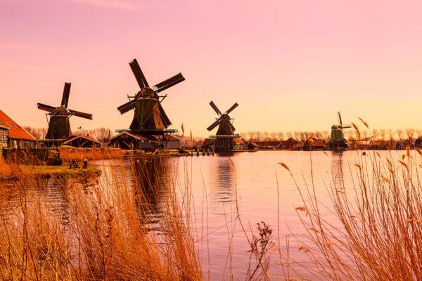 Niederlande Pinke Windmühlen