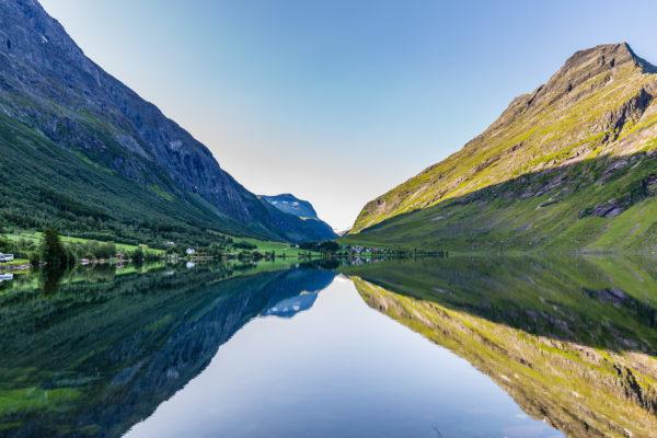 Norwegen Trondelag See