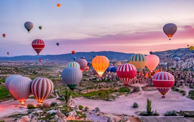 Türkei Kappadokien Heißluftballons Nationalpark Goreme