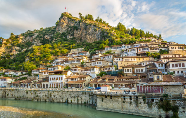Albanien Berat Häuser