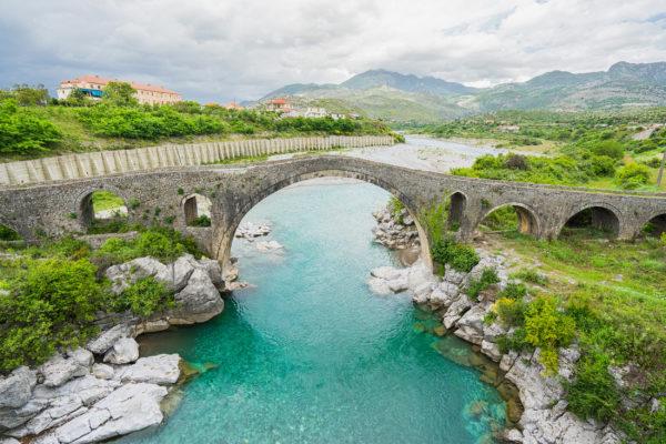 Albanien Brücke Shkoder