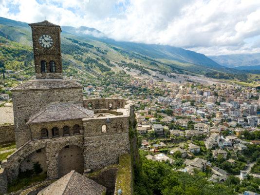Albanien Gjirokastra Burg