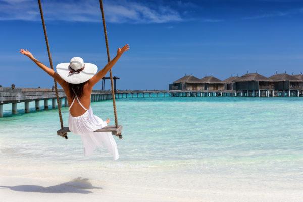 Malediven Schaukel Strand