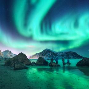 Polarlichter in Norwegen: Wann & wo ihr die Nordlichter am besten sehen könnt