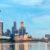 Singapur Skyline Riesenrad Panorama skaliert