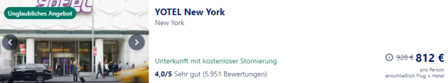 New York Angebot