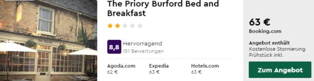 bibury hotel 5 tage