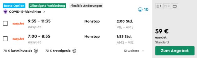 2 Tage Amsterdam Flug